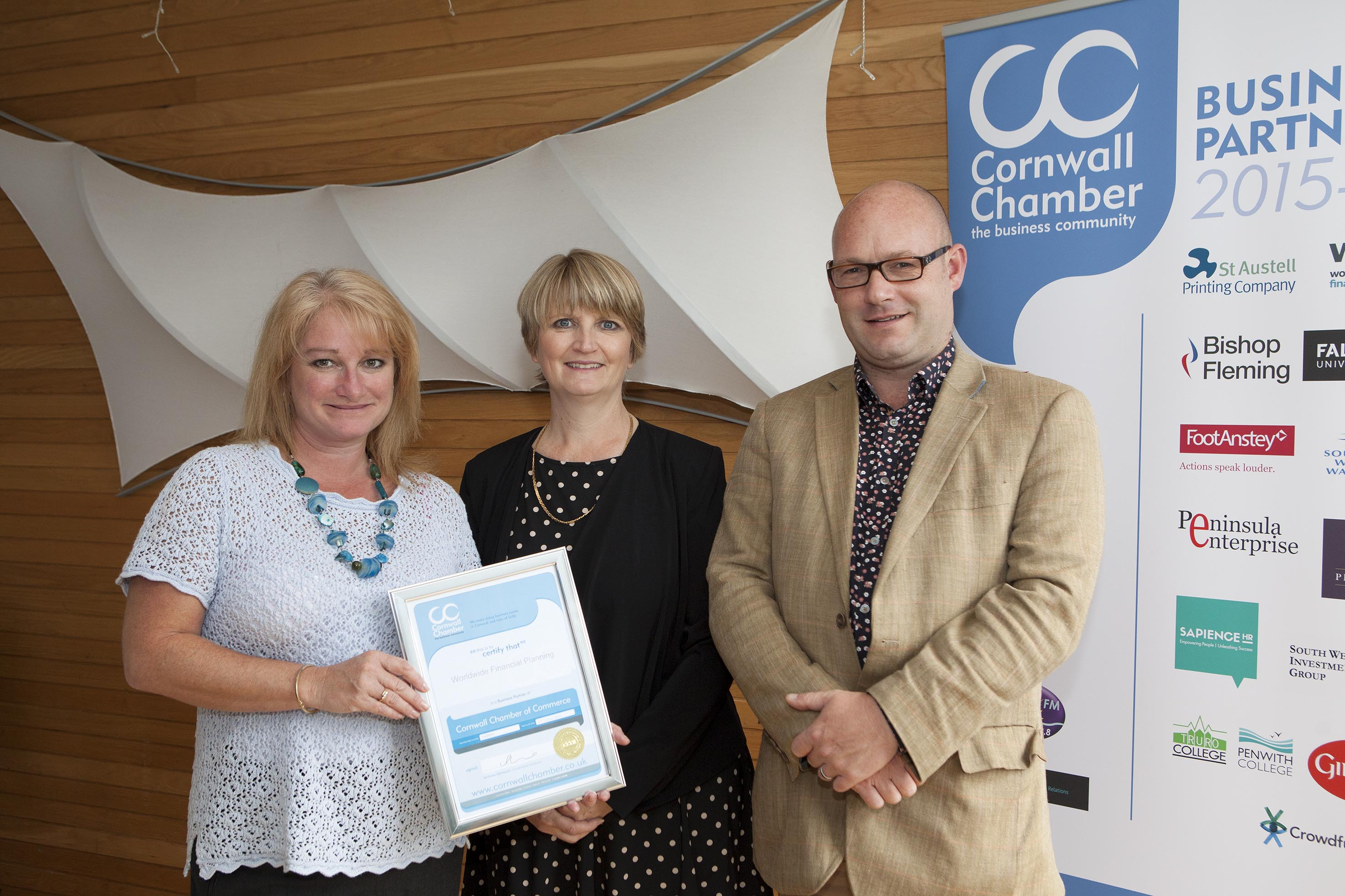 Worldwide Financial Planning Partnership with Cornwall Chamber of Commerce.